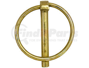 66010 by BUYERS PRODUCTS - Yellow Zinc Plated Linch Pin - 7/16 Diameter x 1-3/4 Inch Long with Ring
