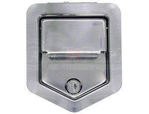 L3890RLS by BUYERS PRODUCTS - Stainless Steel Rotary Single Point Paddle Latch - 1/4 Inch Striker