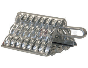 WC091060 by BUYERS PRODUCTS - Galvanized Serrated Wheel Chock with Handle 9x10x6 Inch