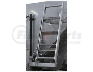 3022060 by BUYERS PRODUCTS - SaltDogg™ Folding Stainless Steel Spreader Ladder For Municipal Hopper Spreaders