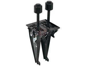 BTA52 by BUYERS PRODUCTS - Air PTO-Hoist-Hoist B-Series Dual Lever Control For 1/4-28 Cable/PTO Air Valve