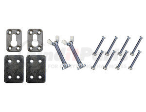 3801000 by BUYERS PRODUCTS - Mounting Hardware for Chrome Plated Steel Motorcycle Chock