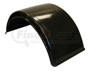 8590195 by BUYERS PRODUCTS - Smooth Black Polyethylene Fender-Fits Minimum 19.5 Inch Dual Rear Wheels