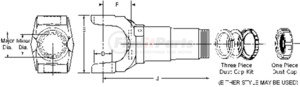8-3-391KX by DANA HOLDING CORPORATION - SLIP YOKE ASSY