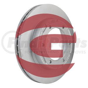 "D6059 by GUNITE - U-Shape Brake Rotor, 15.38"" dia. (Gunite)"