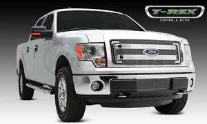 21573 by T-REX - Billet Grille, Polished, Aluminum, 4 Pc, Overlay