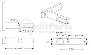 1106-1358 by BUFFERS USA - PINLOCK PIN — PRIMER FINISHED, Penz 90-26-XX* Pinlock