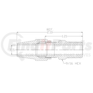 A68-6-4 by POWER PRODUCTS - Air Brake Male Connector 3/8 X 1/4