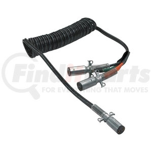 "23-2630 by PHILLIPS INDUSTRIES - Cable Assembly - Liftgate, Dual Pole ""Y"" Adapter, Coiled, 15 Ft., 2/4 ga., with Zinc Die-Cast Plugs (Please allow 7 days for handling. If you wish to expedite, please call us.)"