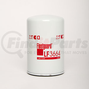 LF3664 by FLEETGUARD - Lube, Spin-On Filter