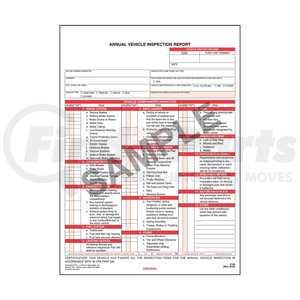 3128 by JJ KELLER - Annual Vehicle Inspection Report, 3-Ply, Carbonless - Stock - 3-ply, carbonless