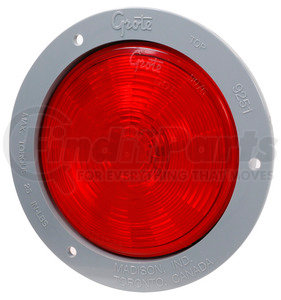 """54472 by GROTE - SuperNova® 4"""" NexGen™ LED Stop / Tail / Turn Light - Gray Flange, Male Pin"""