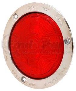"""54492 by GROTE - SuperNova® 4"""" NexGen™ LED Stop / Tail / Turn Light - Stainless Steel Flange, Male Pin"""