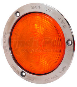 """54493 by GROTE - SuperNova® 4"""" NexGen™ LED Stop / Tail / Turn Light - Stainless Steel Flange, Auxiliary, Male"""