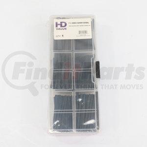 HDV-SHR185BL by HD VALUE - 185-Piece Black Heat Shrink Tubing Kit