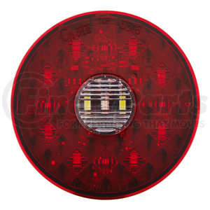 "55162 by GROTE - 4"" Round LED Stop Tail Turn Light with Integrated Backup, Integrated 4-Pin Hard Shell Termination"