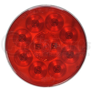 53252 by GROTE - SuperNova® 4″ 10-Diode Pattern LED S/T/T Lamp, Red, Grommet Mount