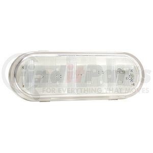 Clear GROTE Steel Compartment Light Kit,Round,White 60101