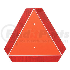 71152 by GROTE - Slow-Moving Vehicle Emblem, Orange/Red
