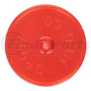 GROTE 40092 Reflector,Screw Mount,Red,Dia 2 1//2 In