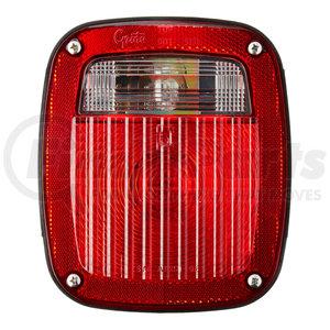 50952 by GROTE - Torsion Mount® Three-Stud Navistar® Volvo® Stop Tail Turn Light, LH w/ License Window, Red