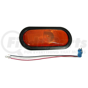 52573 by GROTE - Torsion Mount® III Oval Stop Tail Turn Light, Front Park, Female Pin, Yellow Turn Kit (52893 + 92420 + 67000)