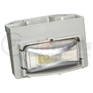 60460 by GROTE - Small Rectangular License Lamp, Clear Lamp, Gray Flange