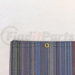 """1801753 by SHUR-CO - Multi-Colored PVC Mesh Tarp, 7'6"""" × 34'"""