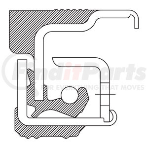 370001A by FEDERAL MOGUL-NATIONAL SEALS - Wheel Seal, 12000 lb Front Axle