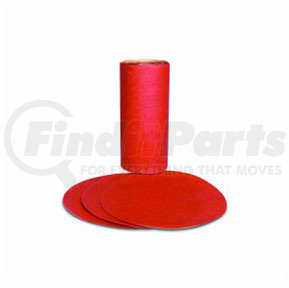 1606 by 3M - Red Abrasive PSA Disc, 5 in, P180 A Weight, 100 discs per roll