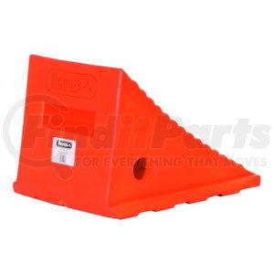 WC8118 by BUYERS PRODUCTS - Large Orange Polyurethane Wheel Chock Set 8.69x11.25x8.13 Inch