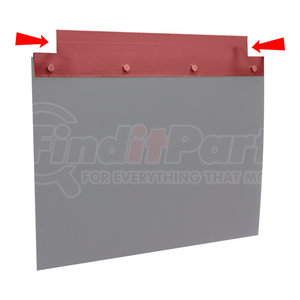 MFBH2375F by BUYERS PRODUCTS - Straight Mudflap Mounting Plate for All 24 Inch Splash Guards