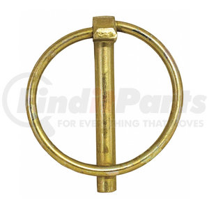 66000 by BUYERS PRODUCTS - Yellow Zinc Plated Linch Pin - 1/4 Diameter x 1-3/4 Inch Long with Ring