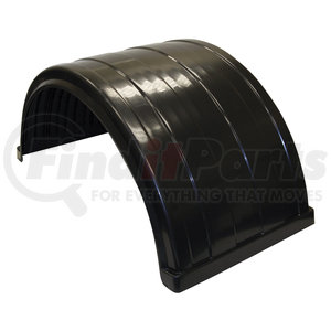 8590245 by BUYERS PRODUCTS - Ribbed Black Polyethylene Fender-Fits Up to 24.5 Inch Dual Rear Wheels