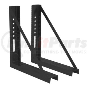 1701006B by BUYERS PRODUCTS - 18x18 Inch Bolted Black Formed Steel Mounting Brackets