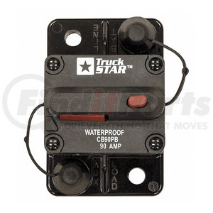 CB90PB by BUYERS PRODUCTS - 90 Amp Circuit Breaker, Push-to-Trip Manual Reset