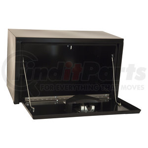 1702100 by BUYERS PRODUCTS - 18x18x24 Inch Black Steel Underbody Truck Box With Paddle Latch