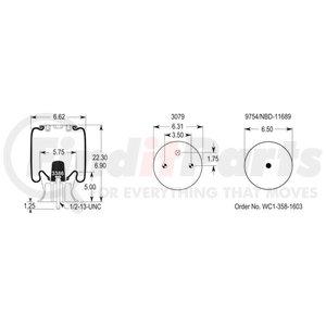 W013585429 by FIRESTONE - 1T14C8 AIR SPRING