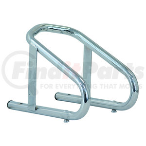 WC100609 by BUYERS PRODUCTS - Chrome Plated Steel Wheel Motorcycle Chock 5.5x10x9 Inch