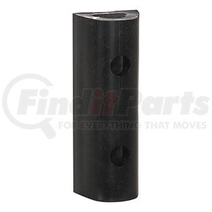 D424 by BUYERS PRODUCTS - Extruded Rubber D-Shaped Bumper with 3 Holes - 4 x 3-3/4 x 24 Inch Long