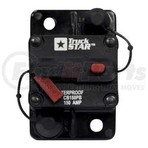 CB150PB by BUYERS PRODUCTS - 150 Amp Circuit Breaker, Push-to-Trip Manual Reset