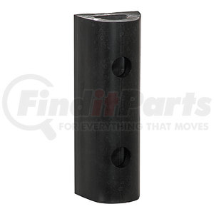 D324 by BUYERS PRODUCTS - Extruded Rubber D-Shaped Bumper with 4 Holes - 3 x 2-7/8 x 24 Inch Long