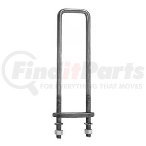 UB623518 by BUYERS PRODUCTS - 18 Inch Square Bend 5/8 Inch U-Bolt Kit-4 Sets