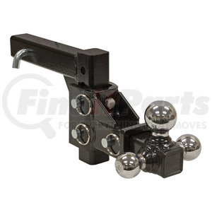 """1802225 by BUYERS PRODUCTS - Adjustable Tri-Ball Hitch, Chrome Towing Balls   (1 7/8"""", 2"""", 2 5/16)"""