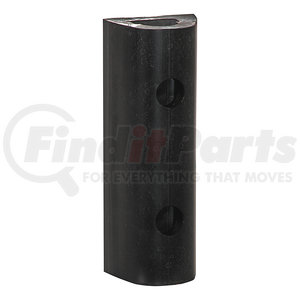 D312 by BUYERS PRODUCTS - Extruded Rubber D-Shaped Bumper with 2 Holes - 3 x 2-7/8 x 12 Inch Long