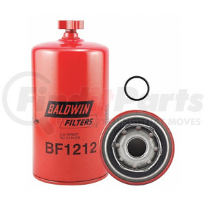 BF1212 by BALDWIN - Fuel Water Separator Spin-on With Drain For Cummins Engines