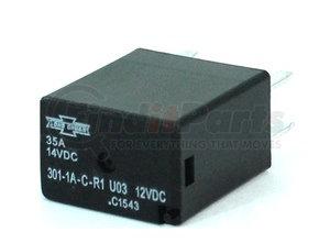 301-1A-C-R1 U03 by SONG CHUAN - Song Chuan ISO 280 Micro Relay, Resistor, 35A, 12V, SPST, 301-1A-C-R1-U03-12VDC