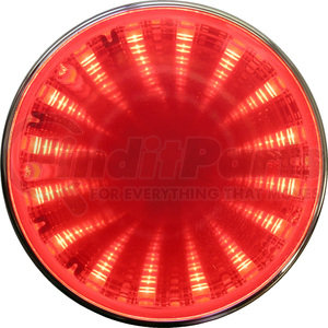 "272KR by PETERSON LIGHTING - 272/274 Round LED Auxiliary Tunnel Lights with 3D Illusion - Red Tunnel, 2.5"" Kit"