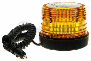 769-2MA by PETERSON LIGHTING - 769-2 5-Joule Quad Flash Strobe Light - Amber, Magnetic 12-48V