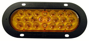 423SA-1 by PETERSON LIGHTING - 420S/423S Series Piranha® LED Auxiliary Oval Strobing Lights - Amber with Flange, Type 1